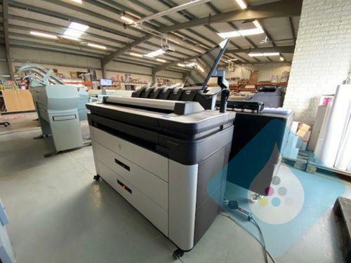 HP Designjet XL 3600 36 inch MFP + F40 online vouwer voorkant