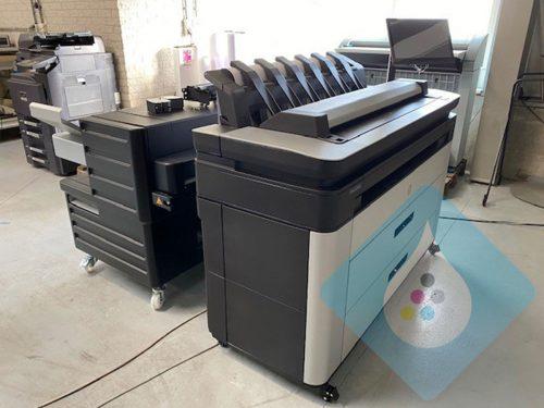 HP Designjet XL 3600 36 inch MFP + F40 online vouwer zijkant